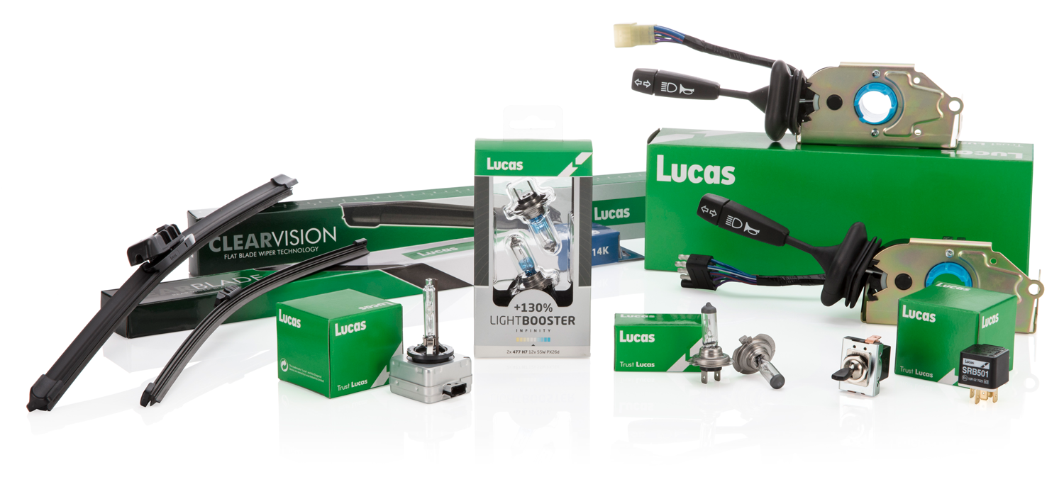 Lucas Bulbs Wiper Blades and Switchgear