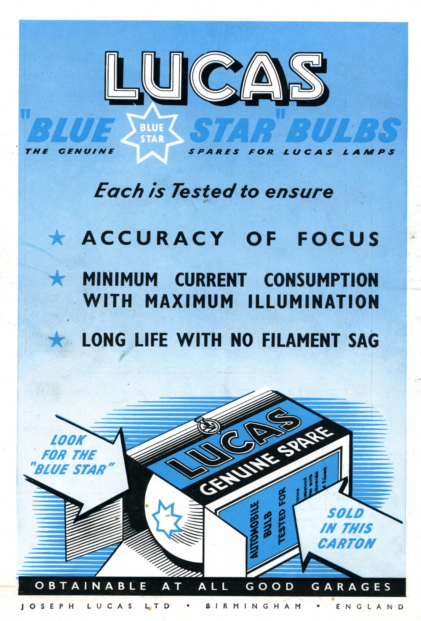 Lucas 1950s bulb advert