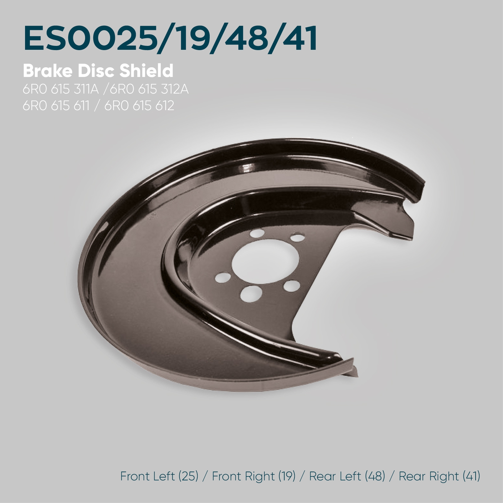 Audi A1 Brake Disc Shield